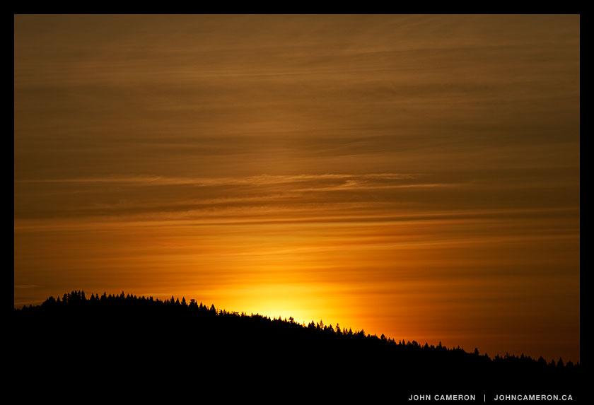 Sunrise over Galiano Island