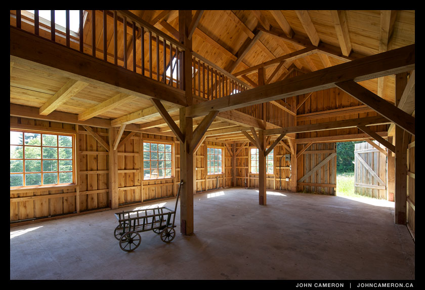 Downstairs in a Salt Spring Island Barn
