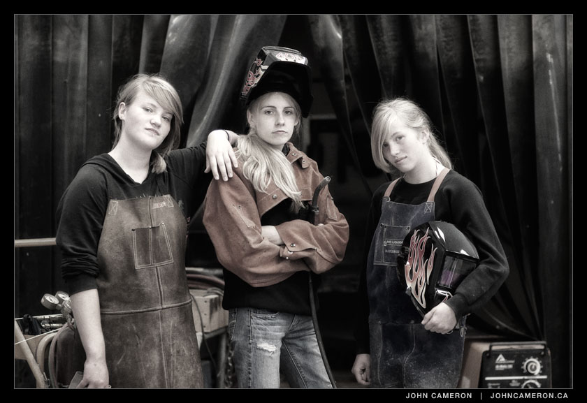 Three Tough Welders at GISS