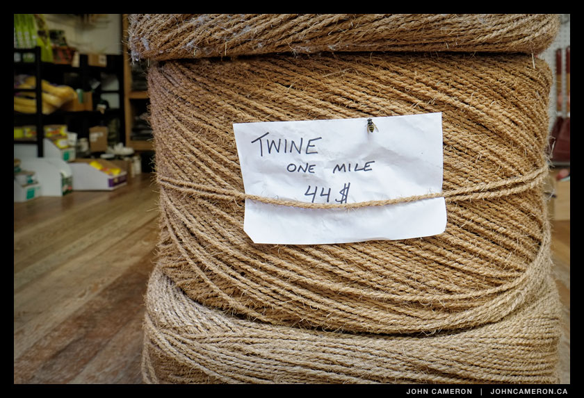 A Mile of Twine at the Foxglove store.
