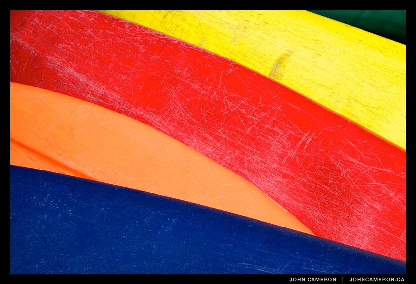 Colourful Boats on a Baker Beach