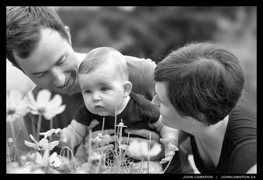 Family in Black and White
