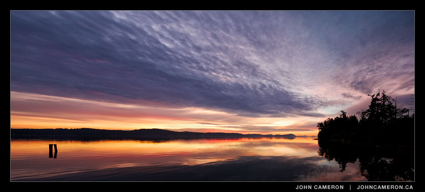 late summer sunrise on saltspring