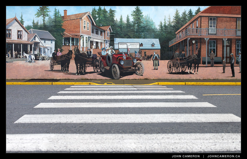 Chemainus Mural blends into the modern landscape