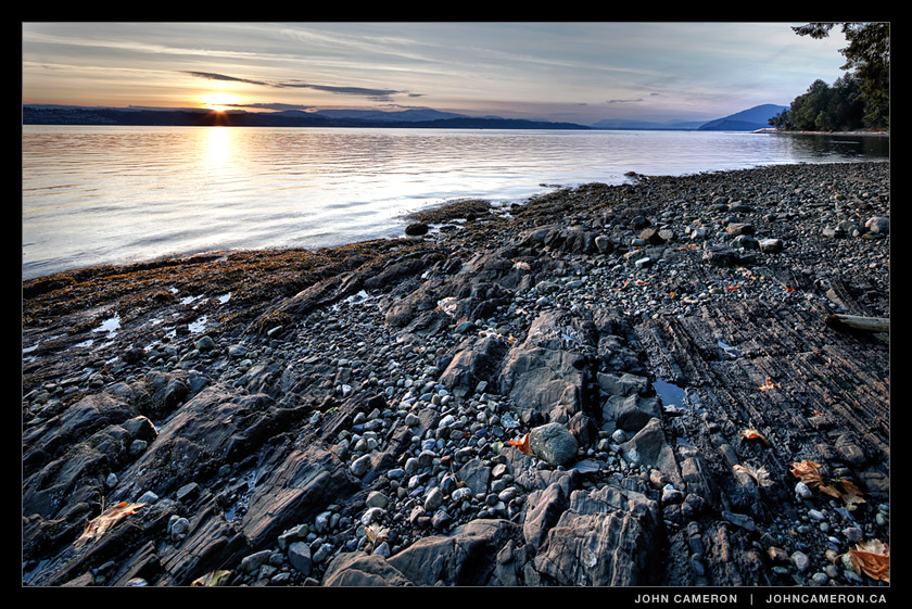 rocky beach on the west side of Salt Spring Island