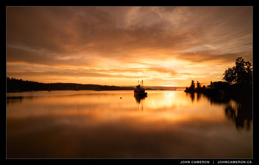 Creamy Sunrise in Ganges Harbour