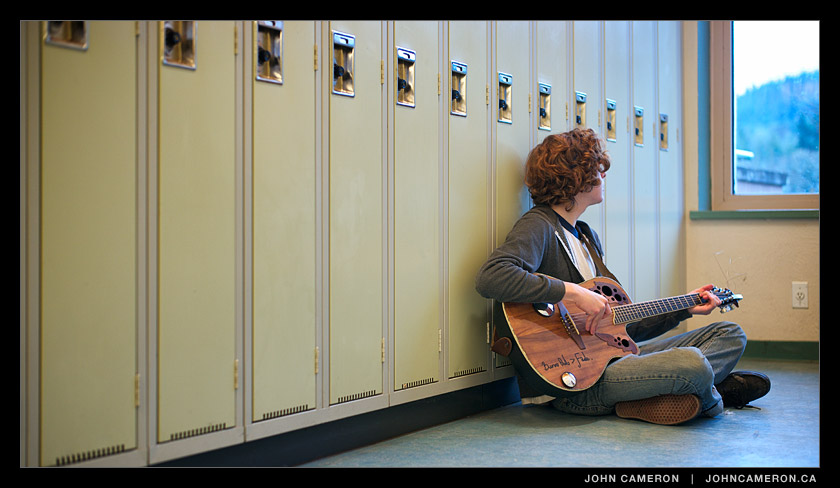Guitar Practice in the South Wing at GISS