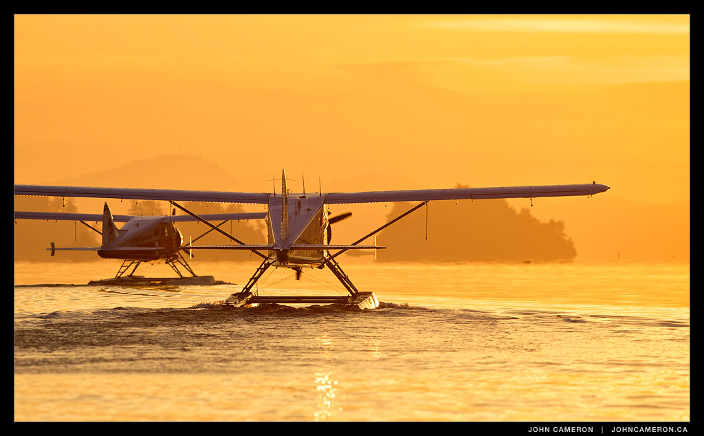 Beaver Floatplanes at Sunrise