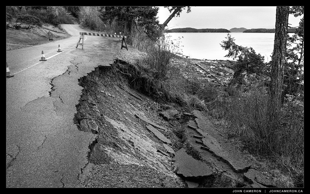 Road Narrows on Salt Spring Island