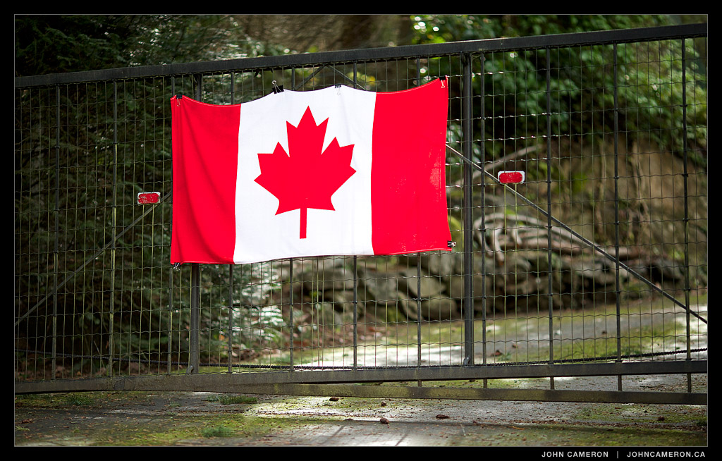 Canada Flag during the Olympics