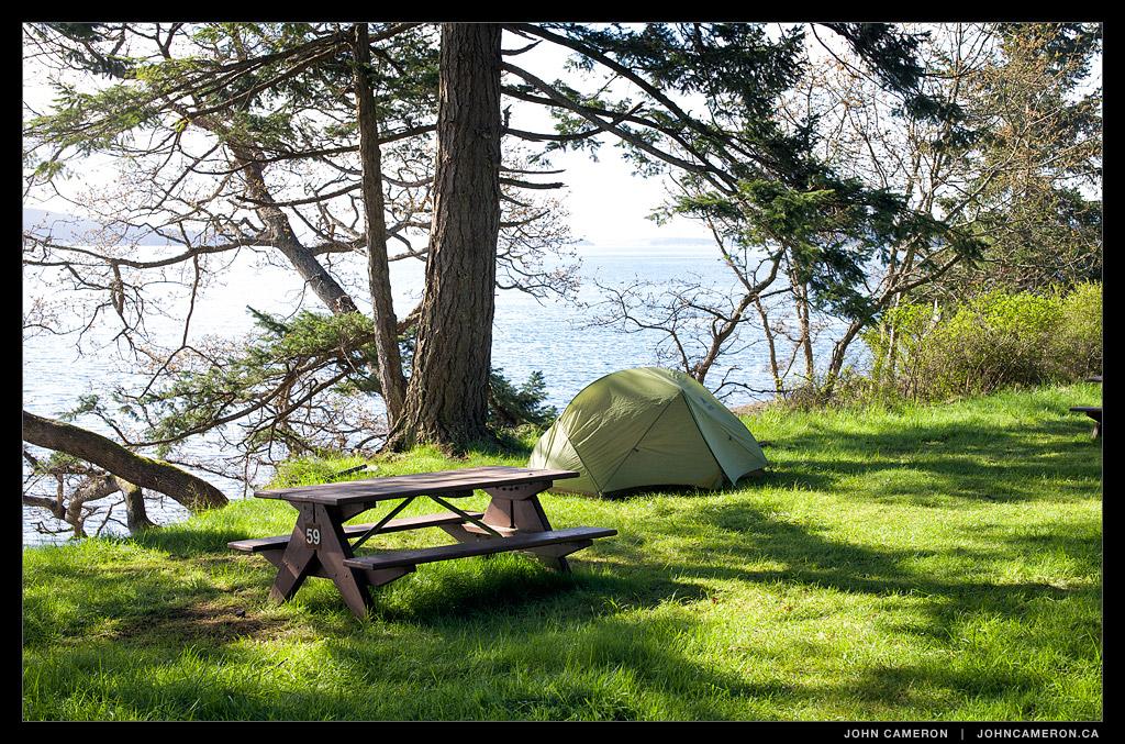 Spring Camping at Ruckle Park, Salt Spring Island