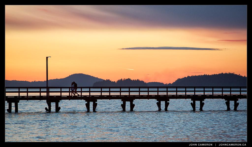 Sunset at Fernwood Pier, Salt Spring Island