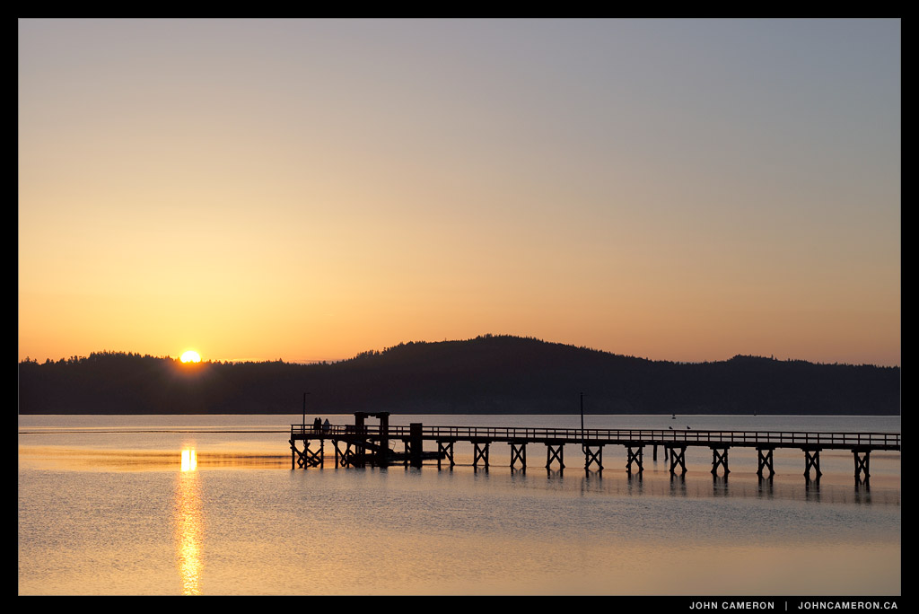 Watching the sun rise at Fernwood Pier