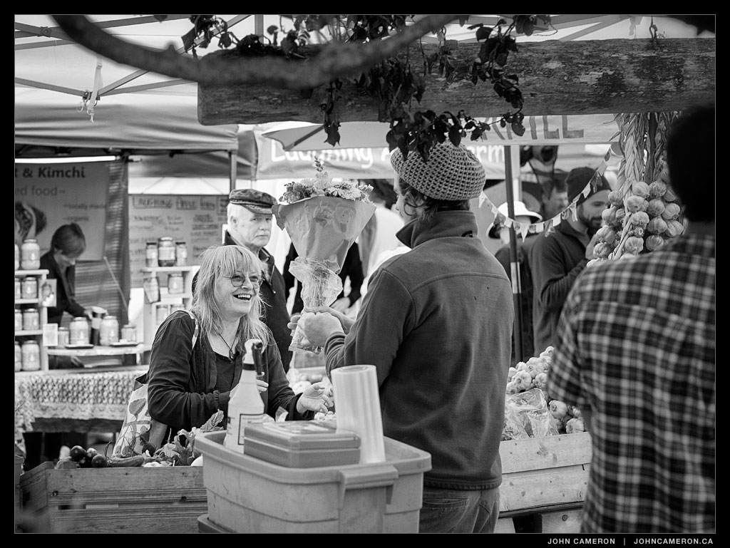 Buying Flowers at the Salt Spring Market