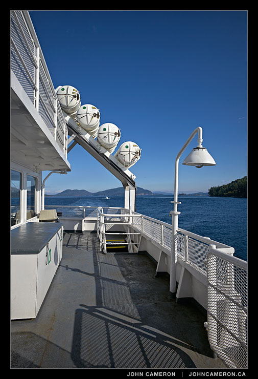 On the Ferry near Mayne Island