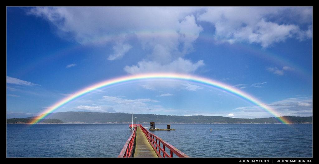 Rainbow on Salt Spring Island