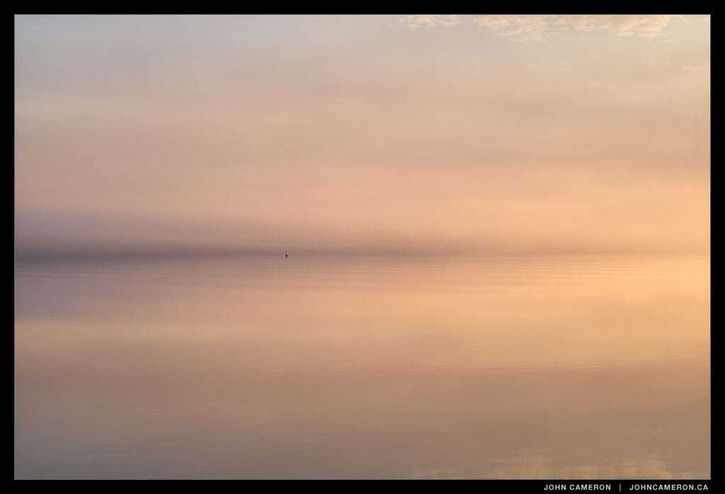 Trincomali Channel with fog at Sunrise