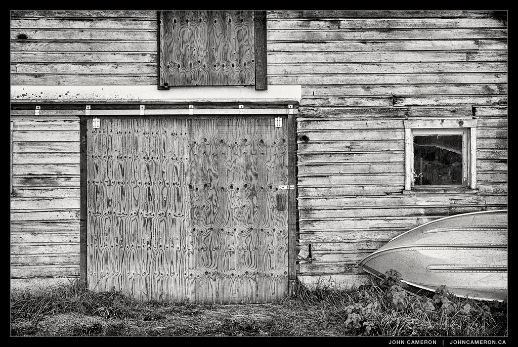 Shed in Black and White