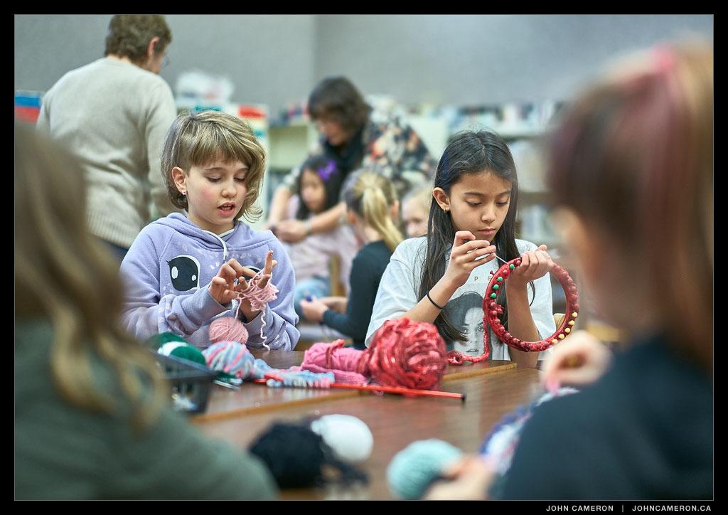 jc_Knitting at Fernwood School