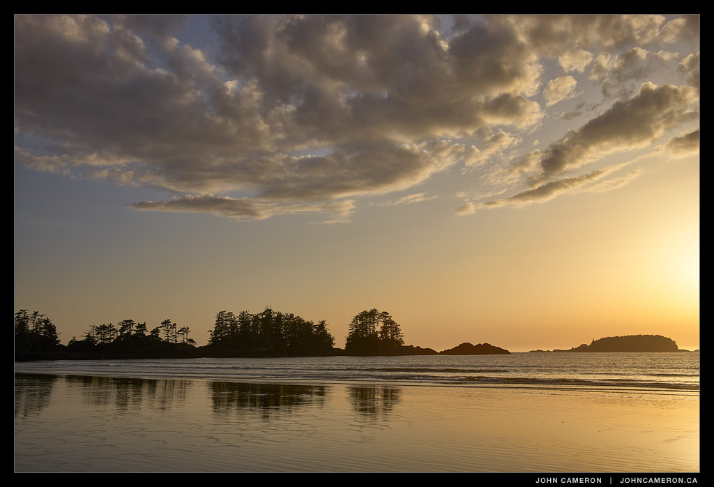 Spring Sunset on Chesterman Beach, Tofino BC