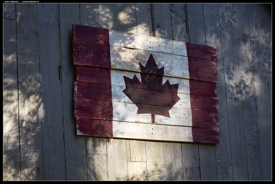 Canada Flag in Wood