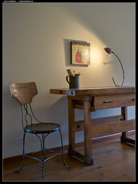 Desk in the Evening