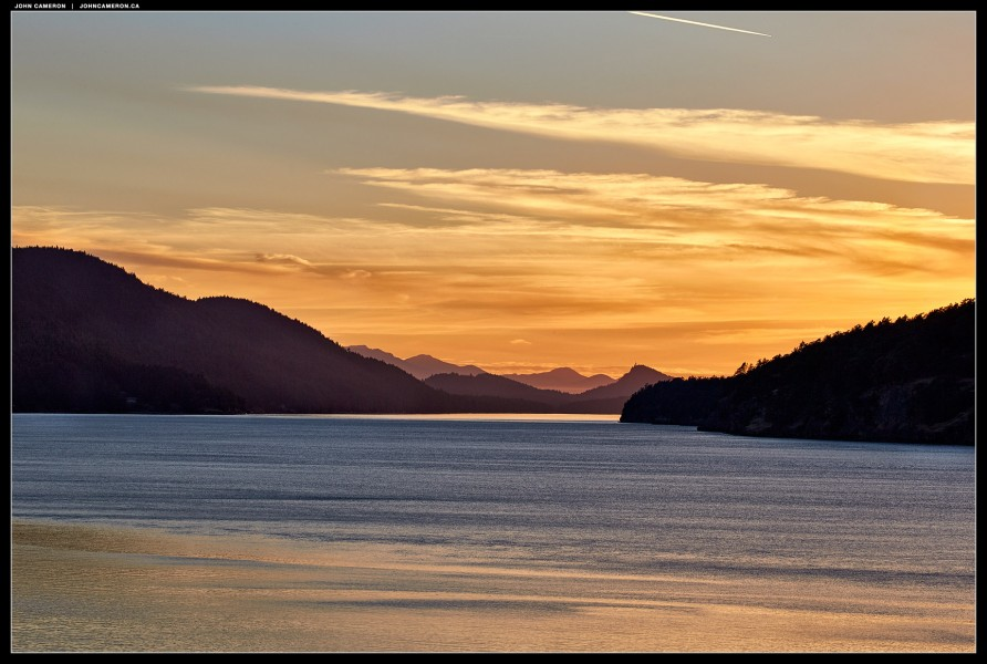 Sunset from East  Point, Saturna Island