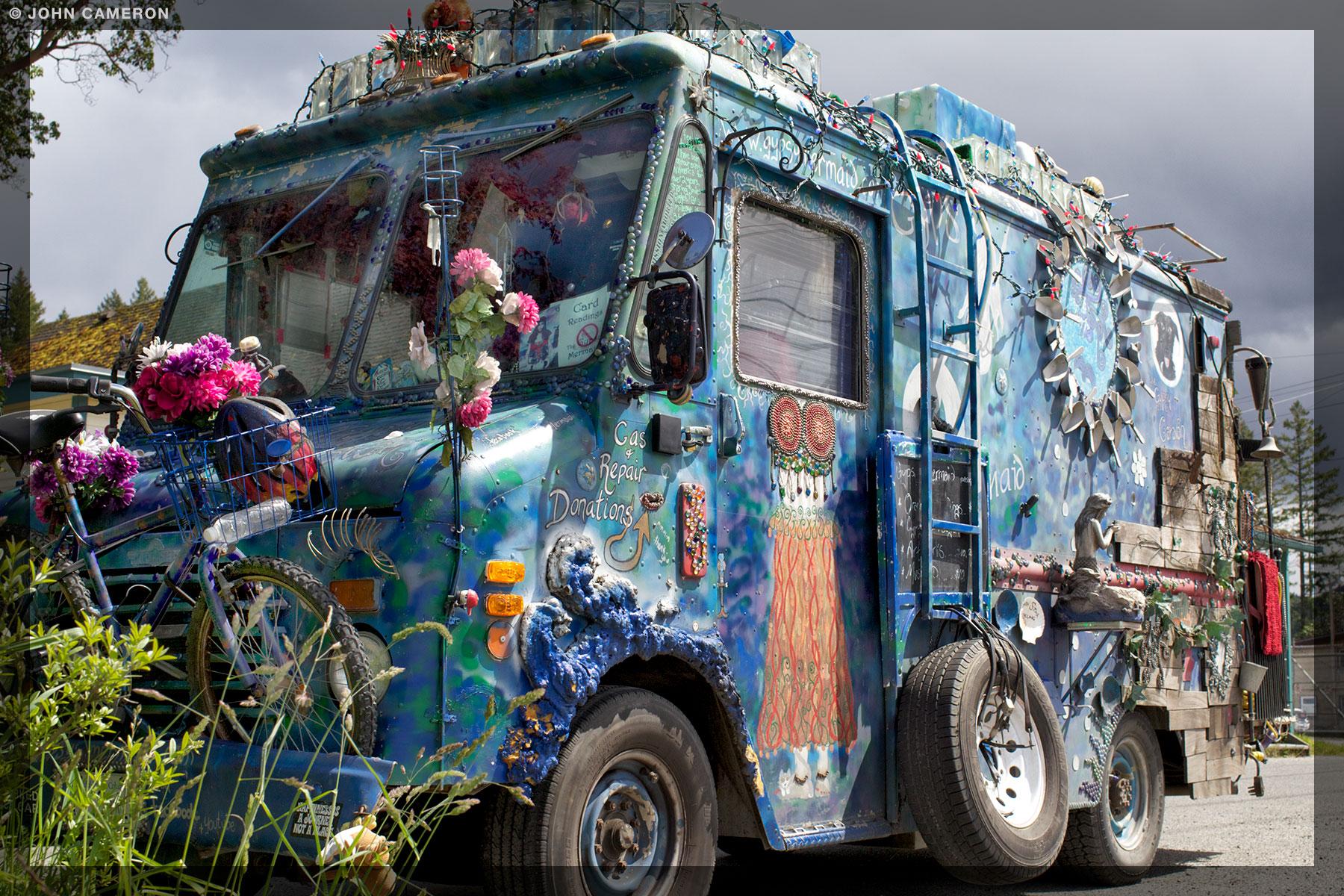 Van on Salt Spring Island