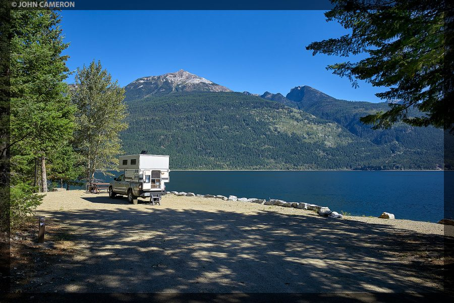 Large, lakefront campsite on NW shore of the lake